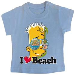 PIXEL EVOLUTION Camiseta de bebé 3D Bart Love Beach en Realidad Aumentada Bebéhttps://amzn.to/2UClweo