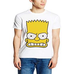 The Simpsons Bart Face-Camiseta Hombrehttps://amzn.to/2Sc0WnP