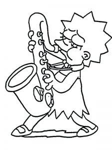 dibujo de lisa simpson con el soxofón