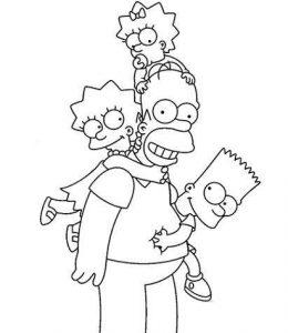 Dibujos para colorear los simpson para colorear Nuevo Estilo Dibujos Da del Padre – Fiestas Infantiles
